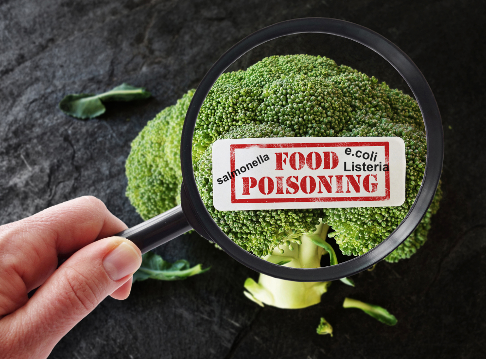 verdura infectada de china