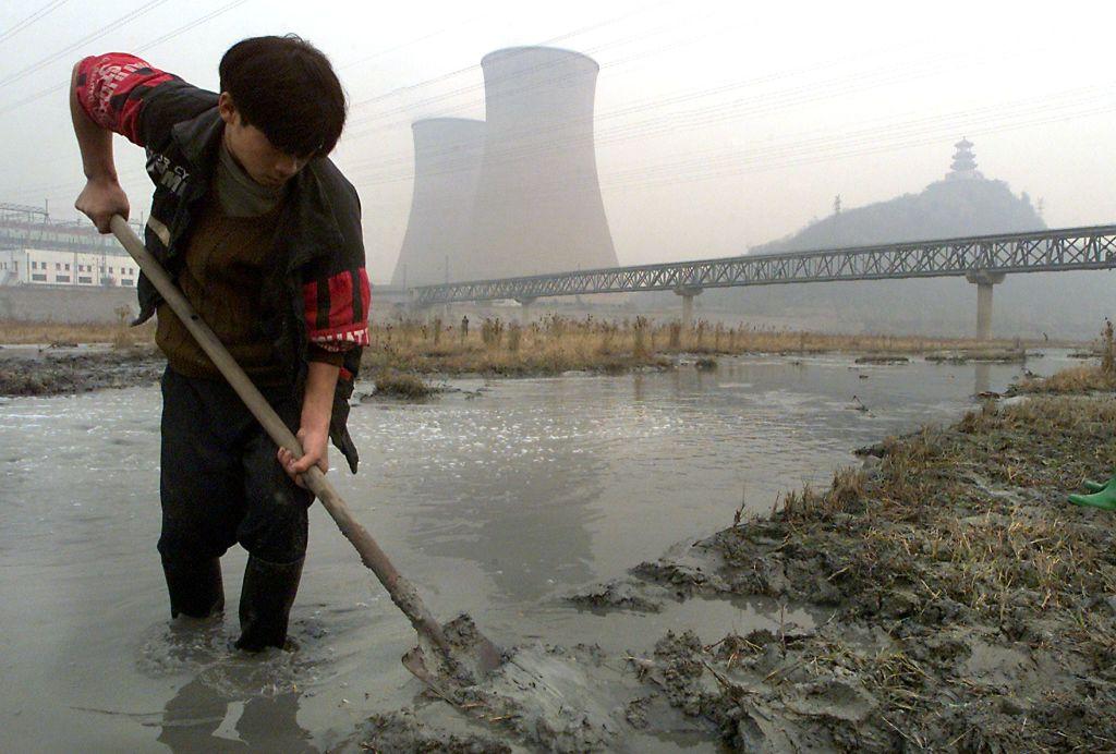 río contaminado Pekin, China