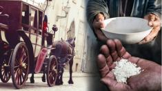 Un mendigo se confunde cuando el emperador le pide un poco de arroz, luego ve un regalo en su tazón
