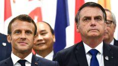 Presidente Jair Bolsonaro pede que Macron se desculpe após rejeitar US$ 22,2 milhões em ajuda para combater incêndios na Amazônia