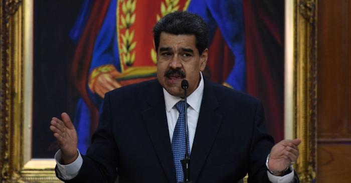 Nicolás Maduro habla durante en el Palacio Presidencial de Miraflores en Caracas el 27 de junio de 2019. (YURI CORTEZ/AFP/Getty Images)