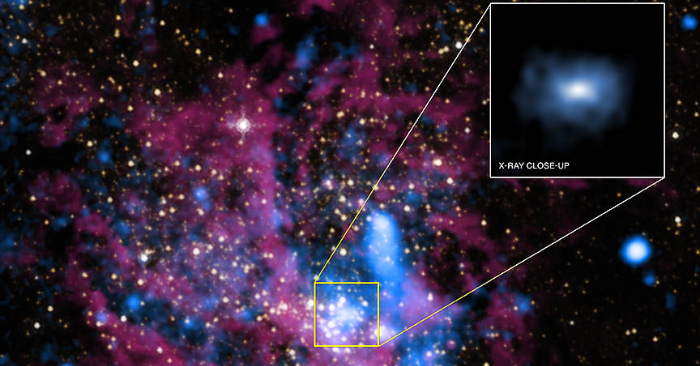 Imagen del agujero negro Sagitario A* (Sgr A*). NASA.
