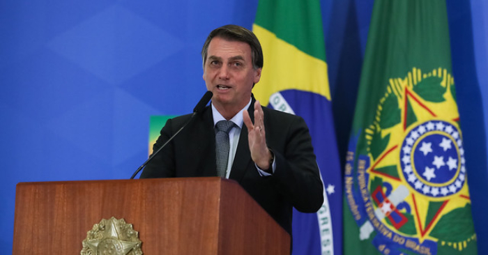 El presidente de Brasil, Jair Bolsonaro, durante la ceremonia de lanzamiento del nuevo mercado de gas, en Brasilia – DF, el 23 de agosto de 2019. Foto de Marcos Corrêa / PR/Palacio de Planalto/Flickr.