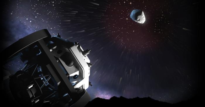 Futuro telescopio de ESA apodado 'Flyeye', para detectar objetos celestes de riesgo como asteroides. Se espera que el primer telescopio Flyeye esté listo para su instalación en el Monte Mufara en Sicilia a finales de 2019. Imagen de ESA.