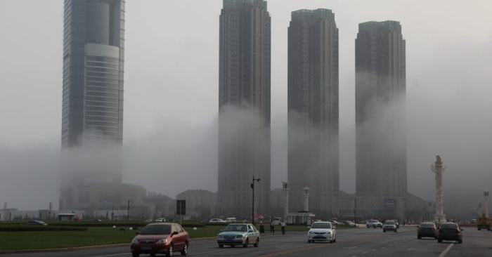 Edificios en Dalian, provincia de Liaoning, China. (VCG/VCG vía Getty Images)