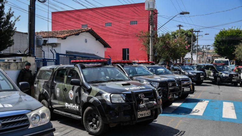 Policía militar en Guararema, a unos 80 km de Sao Paulo, Brasil, el 4 de abril de 2019. (NELSON ALMEIDA/AFP/Getty Images)