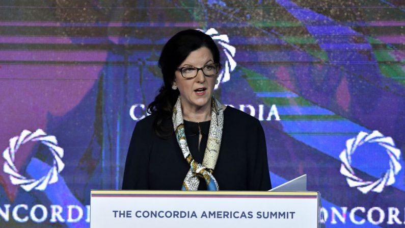 Kimberly Breier, Subsecretaria de la Oficina de Asuntos del Hemisferio Occidental del Departamento de Estado de los Estados Unidos, el 13 de mayo de 2019 en Bogotá, Colombia. (Gabriel Aponte/Getty Images para Concordia Summit)