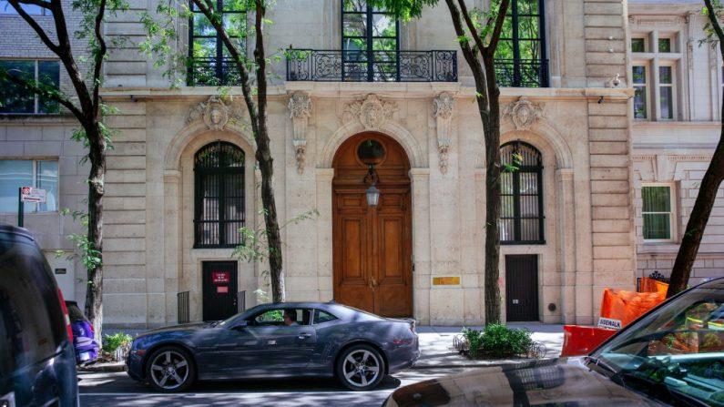 El exterior de la residencia de Jeffrey Epstein en el Upper East Side el 15 de julio de 2019 en la ciudad de Nueva York. (Foto de Kevin Hagen/Getty Images)
