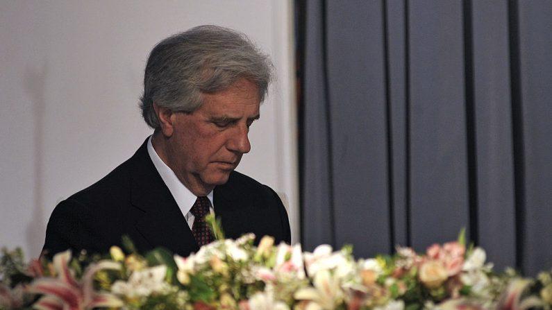 El presidente de Uruguay Tabaré Vázquez, en Montevideo el 19 de octubre de 2011. (PABLO PORCIUNCULA/AFP/Getty Images)