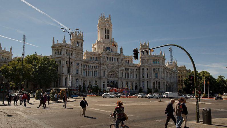 Ayuntamiento de Madrid, llamado Palacio Cibeles, el 22 de mayo de 2015 en Madrid, España. (Pablo Blazquez Dominguez/Getty Images)