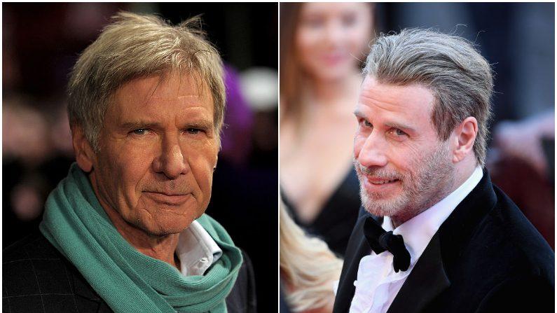 Harrison Ford y John Travolta. (Ian Gavan Gareth   Cattermole/Getty Images)