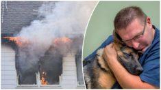 """Entró a una casa en llamas para rescatar a su mascota: """"Mi perro es todo para mí"""""""