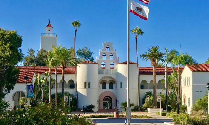 El campus de la Universidad Estatal de San Diego, San Diego, California, 20 de agosto de 2019. La Universidad Estatal de San Diego es la última universidad estadounidense en cerrar su Instituto Confucio. (Gisela Sommer/La Gran Época)