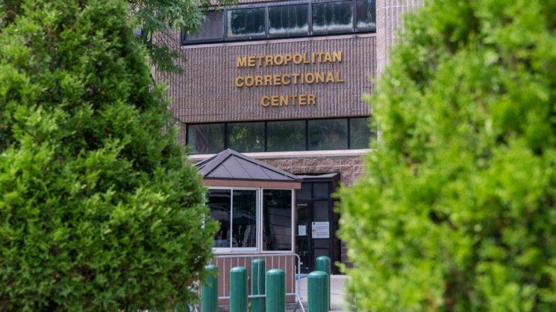 El Centro Correccional Metropolitano, donde Jeffrey Epstein fue encontrado muerto en su celda, en esta imagen del 10 de agosto de 2019 en la ciudad de Nueva York. (David Dee Delgado/Getty Images)