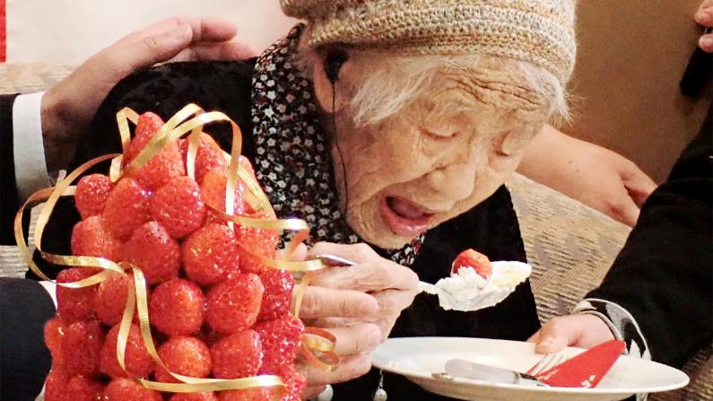 Kane Tanaka de 116 años. (JIJI PRESS/Getty Images)