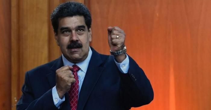 O ditador da Venezuela, Nicolás Maduro, depois de uma coletiva de imprensa em Caracas, Venezuela, em 25 de janeiro de 2019 (YURI CORTEZ / AFP / Getty Images)