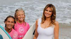 Primeiras-damas do G7 encontram com surfistas na praia de Biarritz (vídeo)