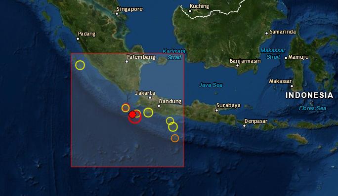 Terremoto en Indonesia el 2 de agosto de 2019 a la 12:03 hora UTC (Servicio sismológico europeo SCEM)