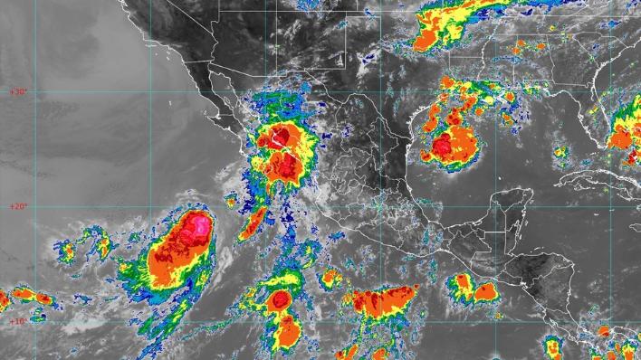 Tormenta tropical Ivo. Imágenes del Satélite Goes el 23 de agosto de 2019