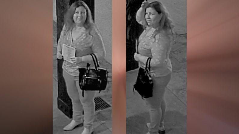 """Imágenes de la """"Cazadora de Bodas"""" publicadas por el Condado de Comal en Texas, Estados Unidos. (Comal County Crime Stoppers)"""