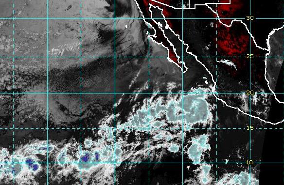 Costa del Pacífico de México el 11 de agosto de 2019 (NOAA-GOES)