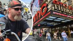 """Pareja va al cine y encuentra la sala llena de """"temibles"""" motociclistas, su reacción no tiene precio"""