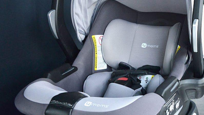 Imagen de un asiento de bebé dentro de un auto. (Araya Díaz/Getty Images para 4moms)