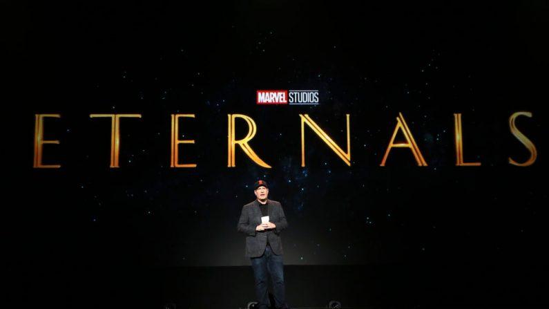 ANAHEIM, Califórnia - 24 de agosto: Presidente da Marvel Studios Kevin Feige participou hoje na apresentação do Walt Disney Studios na Disney D23 EXPO 2019 em Anaheim, Califórnia (foto por Jesse Grant / Getty Images para a Disney)