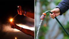 Trabajadores de construcción comparten video de agua de pozo inflamable