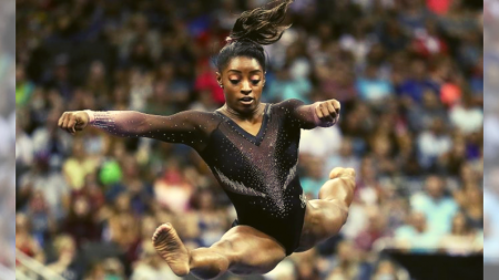 Simone Biles hace historia en la gimnasia al realizar un giro nunca antes visto en una competencia