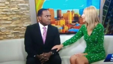 Apresentadora de TV pede desculpas ao vivo por comparar seu colega negro com um gorila