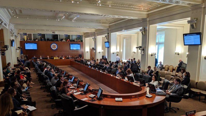 Con 12 votos a favor se aprobó la convocatoria para activar el tratado Interamericano de Asistencia Recíproca (TIAR), para aplicarlo a Venezuela. (VOA)