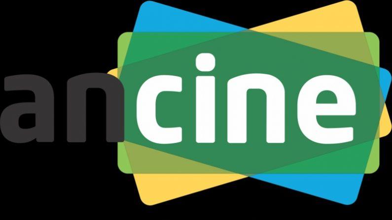 Logotipo da Agência Nacional do Cinema, órgão oficial do governo federal do Brasil, constituída como agência reguladora, cujo objetivo é fomentar, regular e fiscalizar a indústria cinematográfica e videofonográfica nacional, em 9 January 2017 (Governo do Brasil)