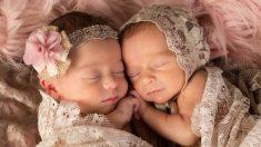 Gemelas dan a luz a sus hijas el mismo día de su cumpleaños, con solo 90 minutos de diferencia