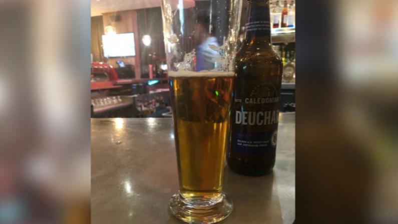 Una cerveza ordenada por el periodista australiano Peter Lalor. (Cortesía de Peter Lalor)