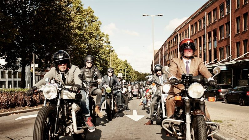 Distinguished Gentleman's Ride em Rotterdam, Holanda.