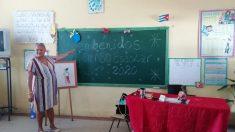"""""""Bienbenidos"""": Primer día de clases en Cuba y su Ministerio de Educación comparte imagen con falta de ortografía"""