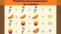 Rompecabezas matemático: ¿Puedes sacar la cuenta final de cada comida en menos de 60 segundos?