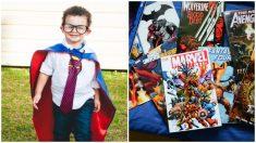 Niño con síndrome de Down supera varias cirugías y se convierte en un superhéroe de comics