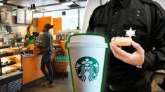 """Starbucks """"echa"""" a policías por petición de un cliente, luego una cafetería local entra en acción"""