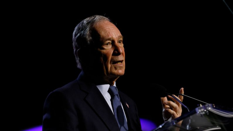 Michael Bloomberg el 24 de julio de 2019 en Detroit, Michigan. (JEFF KOWALSKY/AFP/Getty Images)