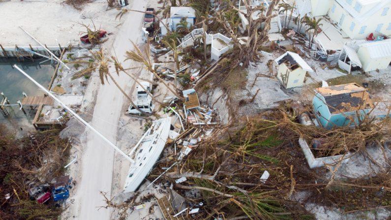 Isla Elbow Key Island el 7 de septiembre de 2019 en Hope Town, Bahamas, devastada por el huracán Dorian. ( Jose Jimenez/Getty Images)