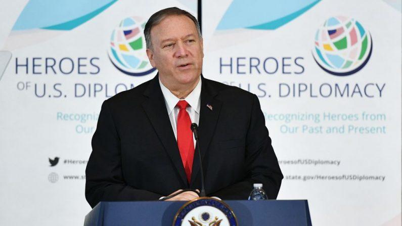 El Secretario de Estado de Estados Unidos, Mike Pompeo, en el Departamento de Estado en Washington, DC, el 13 de septiembre de 2019. (MANDEL NGAN/AFP/Getty Images)