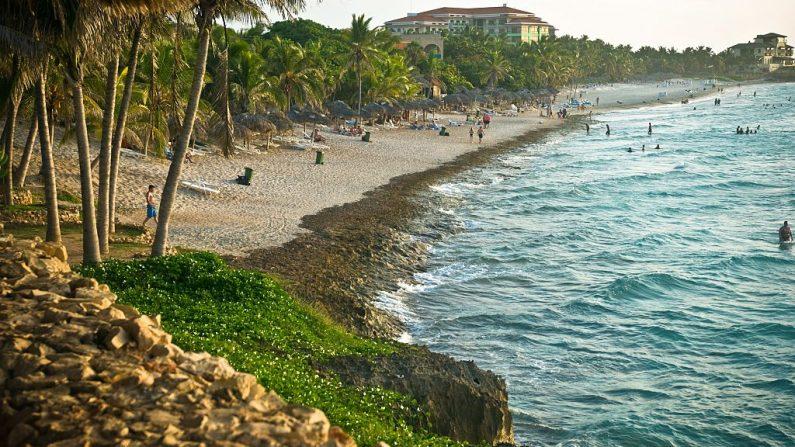 Vista general de la playa de Varadero, en la provincia cubana de Matanzas, tomada el 21 de agosto de 2010. (STR / AFP / Getty Images)