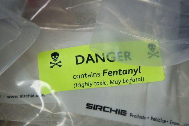 Bolsas de heroína exhibidas después de una importante redada de drogas, en la oficina del Procurador General de Nueva York en N.Y.C., el 23 de septiembre de 2016. (Drew Angererer/Getty Images)