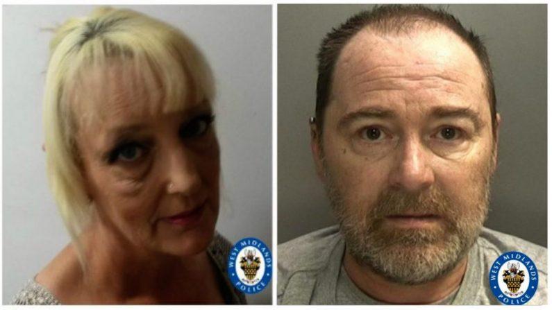 Lynn Hart (izq.) y David Harrison. (Cortesía de la policía de West Midland)