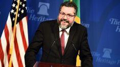 Nos EUA, Araújo diz que Trump e Bolsonaro se rebelam contra tolices globais