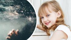 """""""Pequeña heroína"""" de 5 años fue captada en cámara cuando salvó a su mamá de ahogarse en la piscina"""