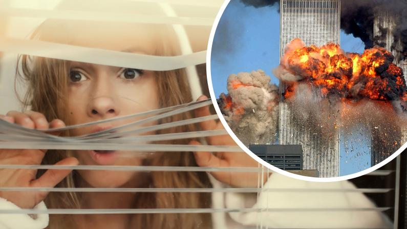 Izq: Imagen Ilustrativa (Shutterstock/Family TV) | Der: Avión choca torre World Trade Center. (Getty Images | Spencer Platt)