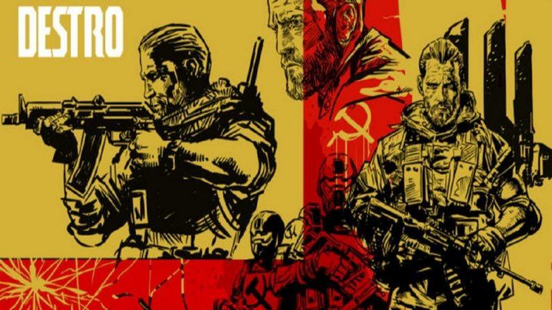 (Imagem do personagem Destro, de Michel Gomes, desenhista da obra)